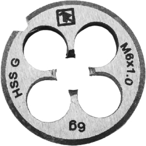 Плашка D-COMBO круглая ручная М14х2.0, HSS, Ф38х14 мм