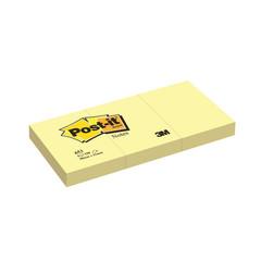 Стикеры Post-it 653 38х51 желтая 3бл.х100л