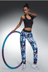 Легинсы для фитнеса в цветочек с карманами