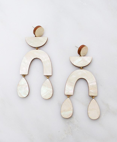 Серьги Corbero Earrings Mother of Pearl