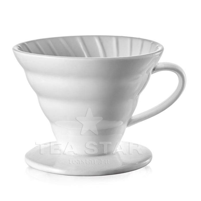 Кофейные аксессуары Воронка для приготовления кофе 01, керамическая, белая Aka_Hario_drip-01cw.jpg
