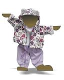 Трикотажный костюм - Демонстрационный образец. Одежда для кукол, пупсов и мягких игрушек.