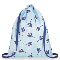 Рюкзак складной Mini maxi sacpack leaves blue Reisenthel