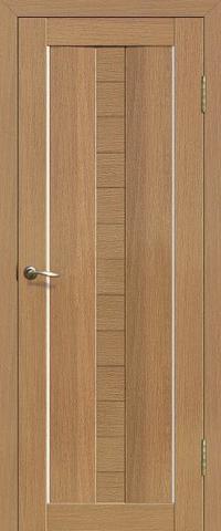 Дверь Двероникс 08, стекло матовое, цвет дуб сантьяго, остекленная