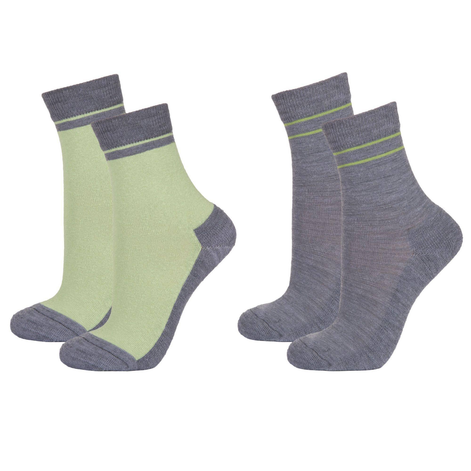 Детские шерстяные носки Janus цвет зеленый, серый