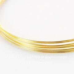 Проволока мемори для браслета, 60х0,6 мм, цвет - золото, 10 витков