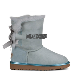 UGG Bailey Bow Metallic II Sky Blue