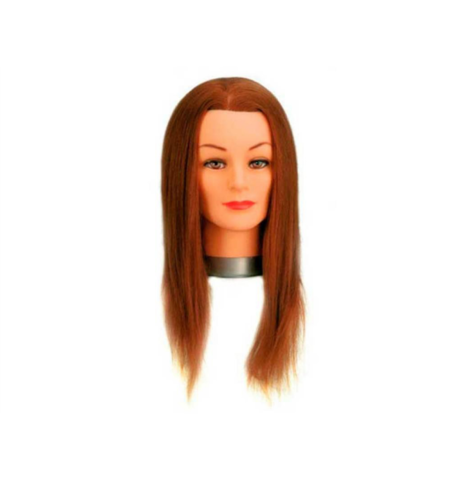 Голова учебная шатен, длина волос 30/40 см