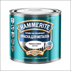 Краска полуматовая Hammerite (черная)