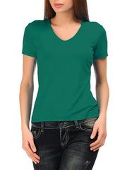 3061-2 футболка женская, зеленая