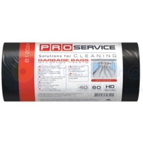 PRO Пакеты для мусора ХД 60л/40шт. черные р.(60*80)
