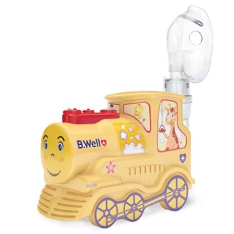 Ингалятор(небулайзер) детский «Паровозик» B.Well PRO-115, маски (взрослая, детская, младенческая), насадка для нос