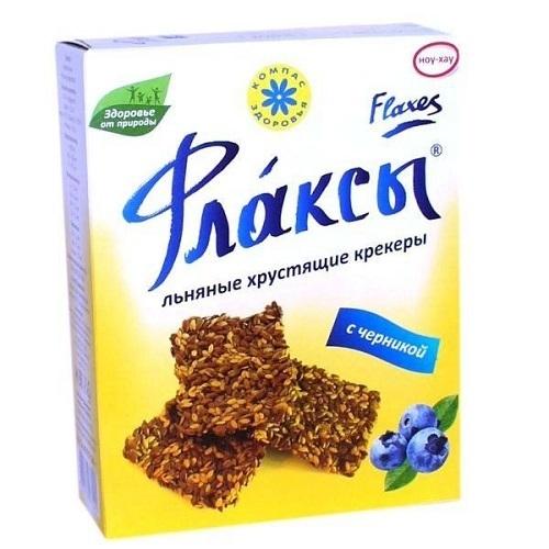 Флаксы, Компас Здоровья, с черникой, 150 г