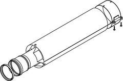 Коаксиальное удлинение дымохода Protherm, 80 - 1 м