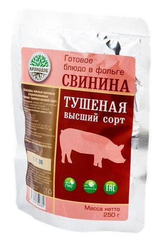 Свинина тушёная 'Кронидов', высший сорт, 250г