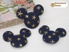 Мягкий декор джинсовые Минни со звездами синие