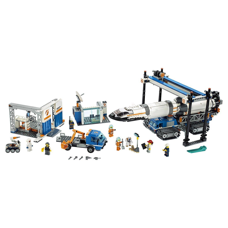 Конструктор LEGO City Space Port Площадка для сборки и транспорт для перевозки ракеты 60229