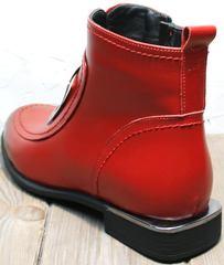 Женские красные ботинки на осень Evromoda 1481547 S.A.-Red