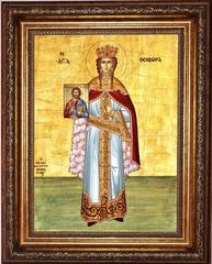 Феодора (Теодора) Греческая праведная царица. Икона на холсте.