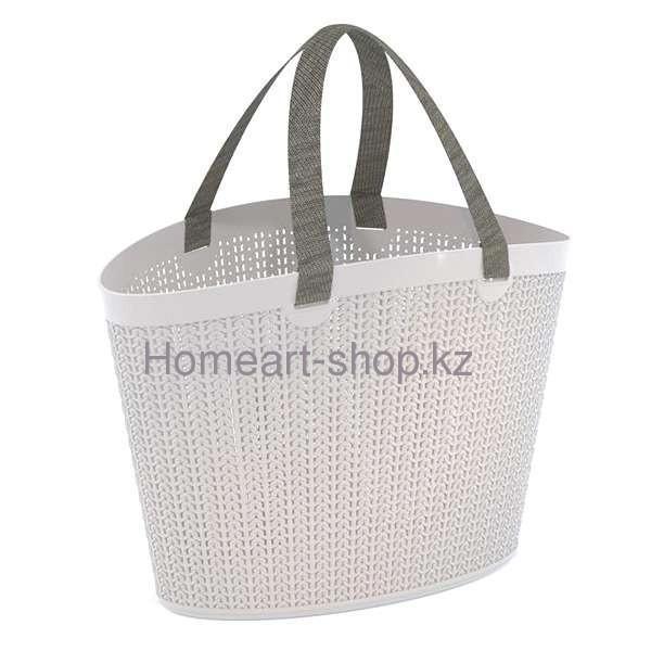 Плетенная ручная сумка ;