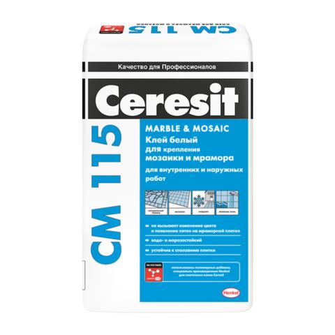 Клей для мозайки и мрамора СМ115 25кг Ceresit