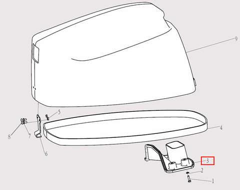 Воздухозаборник для лодочного мотора F9,8 Sea-PRO (1-3)