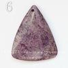 """Подвеска Агат """"Крейзи"""" (тониров), цвет - фиолетовый, 46-59 мм (№6 (47х39 мм))"""