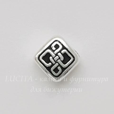 """Бусина ромб маленький TierraCast """"Кельтская"""" 8х8 мм (цвет-античное серебро) (20170913_112118)"""