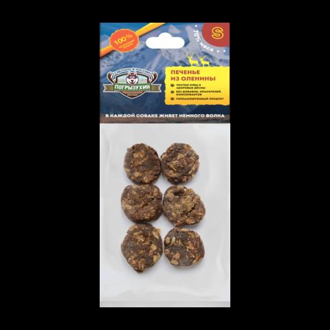 Погрызухин Лакомство для собак печенье из оленины