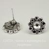 Пуссеты - гвоздики 11 мм (античное серебро)(без заглушек)