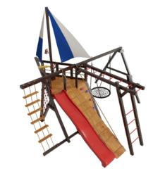 Детская деревянная игровая площадка Фрегат