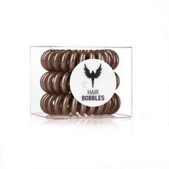 Силиконовая резинка для волос Hair Bobbles  - Коричневая, 3 шт