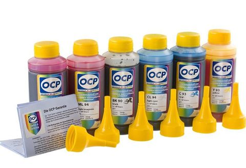 Комплект чернил OCP для картриджей HP 72 (DesignJet T790, T610, T2300, T770, T1300, T1200, T1120, T620, T1100), комплект 6 x 100 гр.