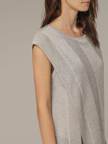 Женское платье миди серого цвета - фото 2