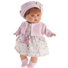 MUNECAS ANTONIO Кукла Кристиана в розовом, плачущая, 30 см (1338P)