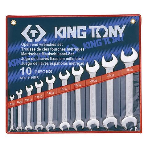 KINGTONY (1110MR) Набор рожковых ключей, 6-28 мм, 10 предметов