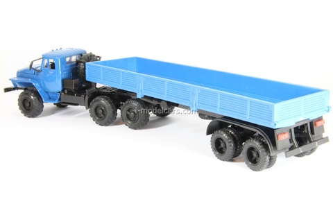 Ural-44202 with semitrailer blue Elecon 1:43