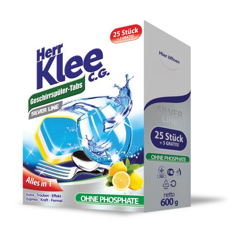Таблетки для посудомоечных машин Klee Silver Line