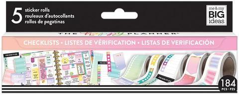Набор стикеров в рулоне Happy Planner Sticker Roll -Checklist- 184 шт.