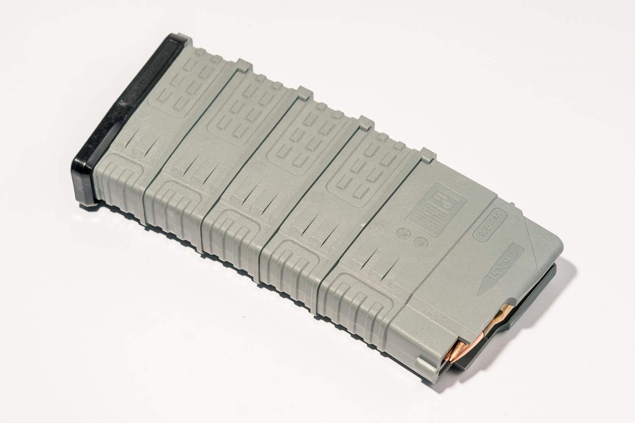 Магазин Pufgun Вепрь-308 на 25 патронов, серый