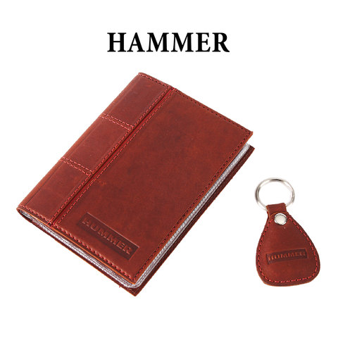 Обложка для водительского удостоверения с брелком «HUMMER»