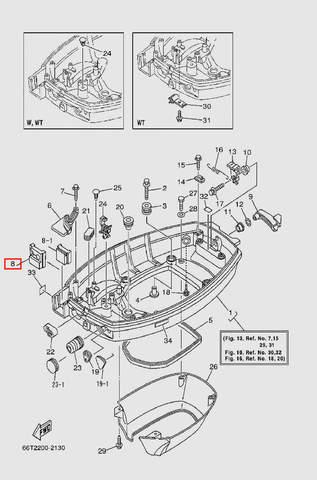 Заглушка-уплотнитель  для лодочного мотора T40 Sea-PRO (13-8)