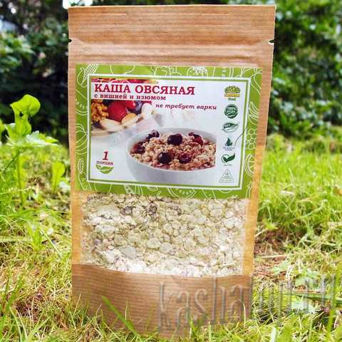 Овсяная каша с вишней и изюмом 'Organic food' 70г