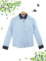 2909 рубашка женская, голубая