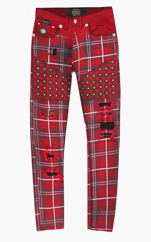 Джинсы The Saints Sinphony RED PLAID JEAN