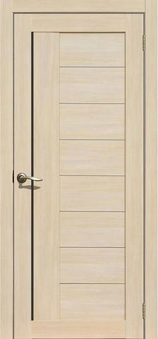 Дверь APOLLO DOORS F1, стекло чёрное Lacobel, цвет лиственница светлая, остекленная