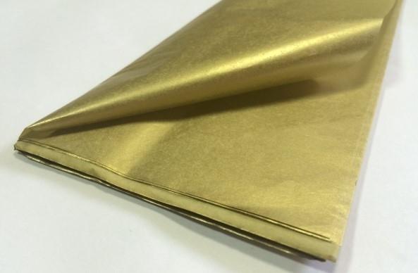 Бумага тишью,золото