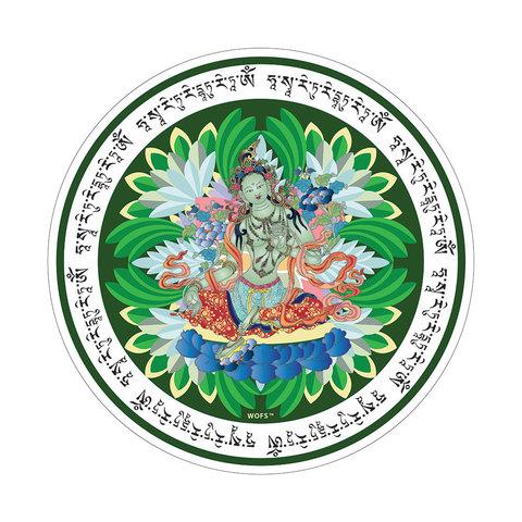 Наклейка Зеленая Тара