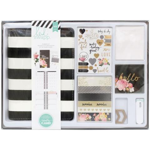 Ежедневник с наполнением Heidi Swapp Personal Memory Planner Boxed Kit 14х20 см -Black & White With Gold