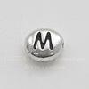 """Бусина овальная TierraCast """"Буква M"""" 7х6х3 мм (цвет-античное серебро) (20170913_121448)"""